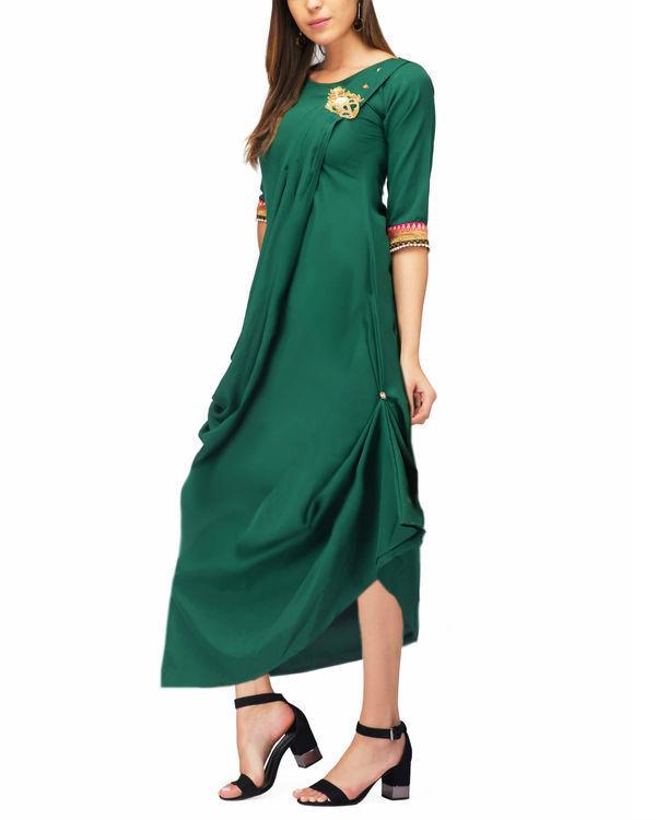 Green drape tunic 2