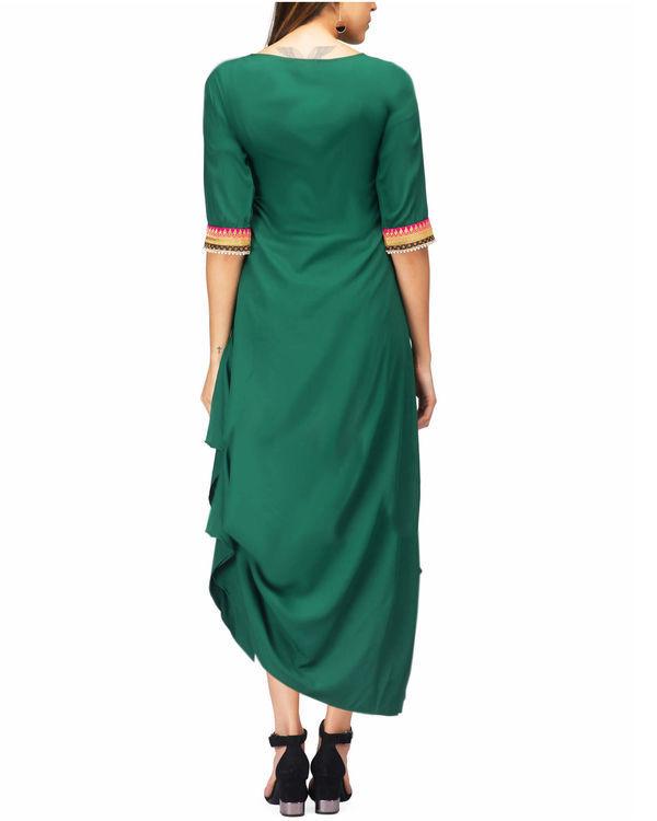 Green drape tunic 1