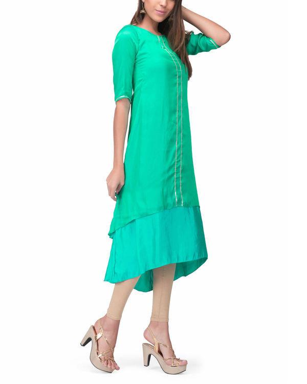 Green aqua layer dress 3