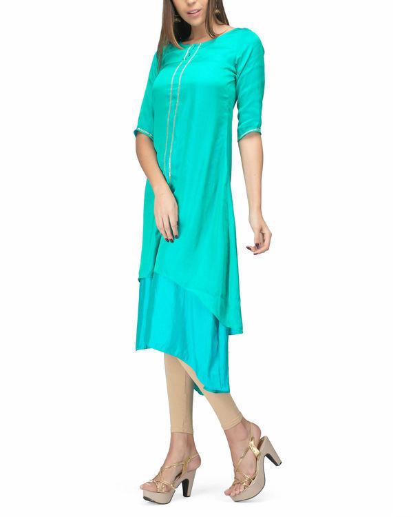 Green aqua layer dress 2