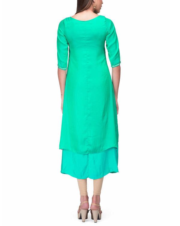 Green aqua layer dress 1