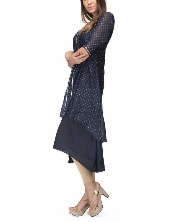 Navy Chanderi Layer dress 2