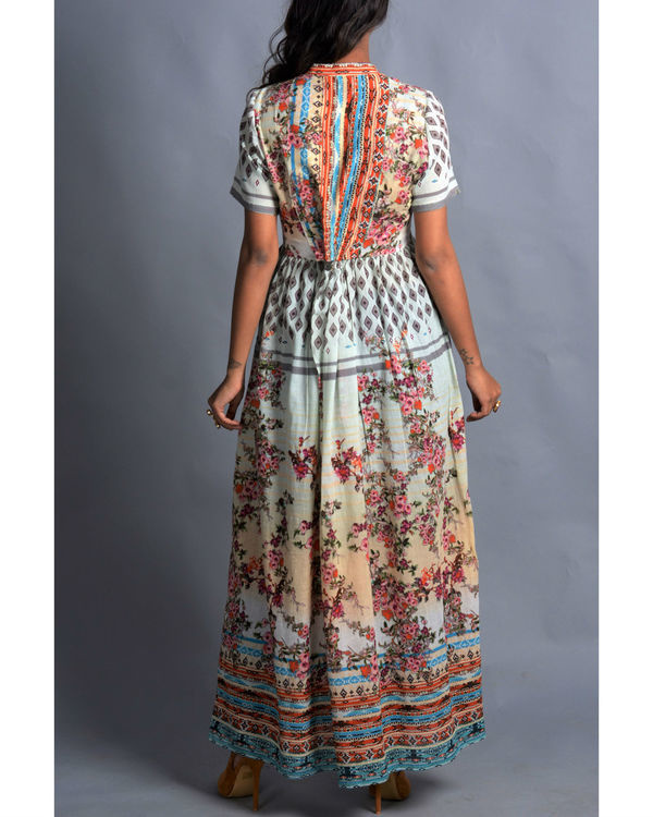 Moroccan multi-print long dress 2