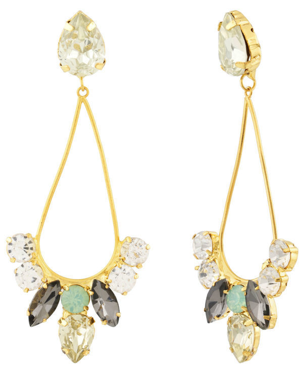 Dew Drop Crystal Earrings 1