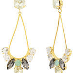 Thumb dew drop crystal earrings for women 2