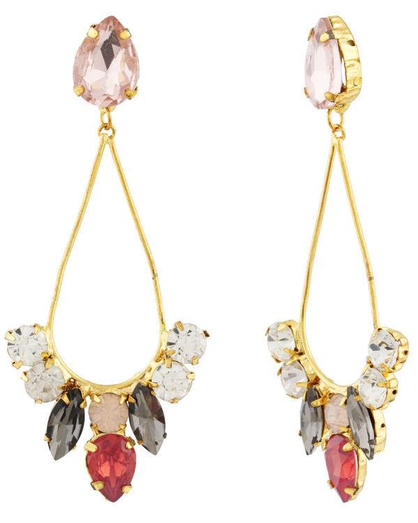 Crystal Pastal Dew Drop Earrings 1