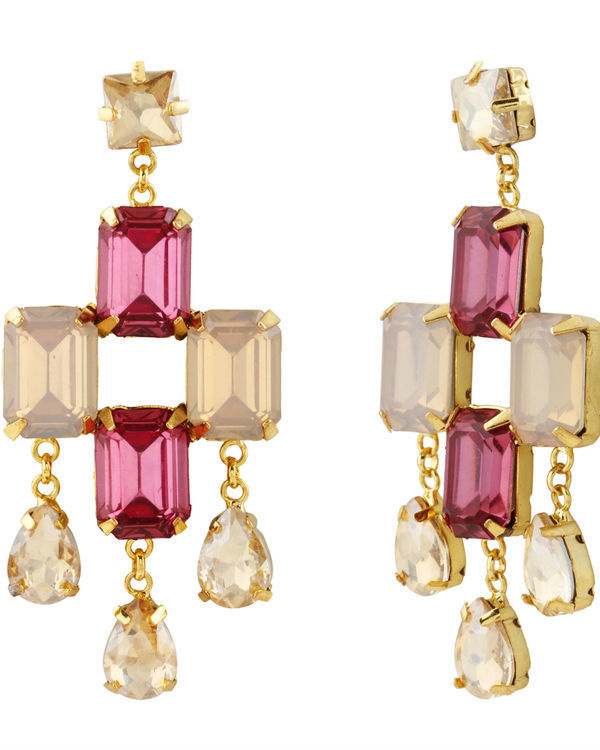 Goldmist Quartz Earrings 1