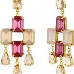 Thumb goldmist quartz earrings for women