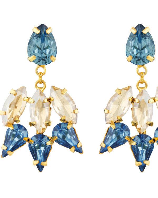 Blue and Gold Garner Earrings 1