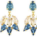 Thumb blue garnet earrings for women