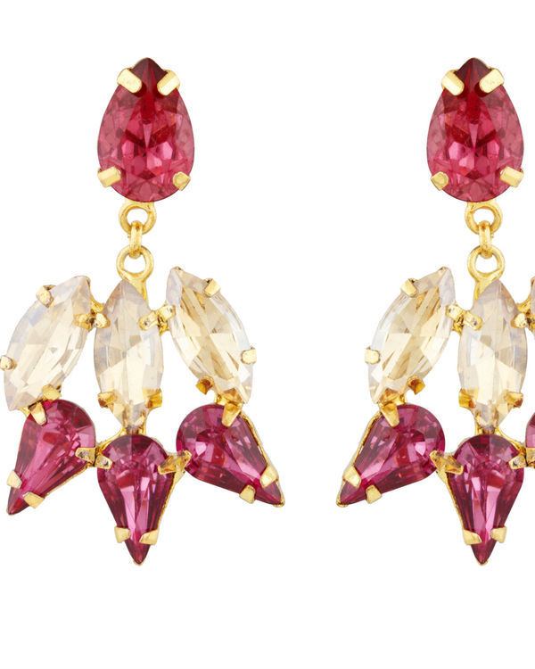 Pink and Gold Garner Earrings 1