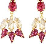 Thumb pink garner earrings for women 2