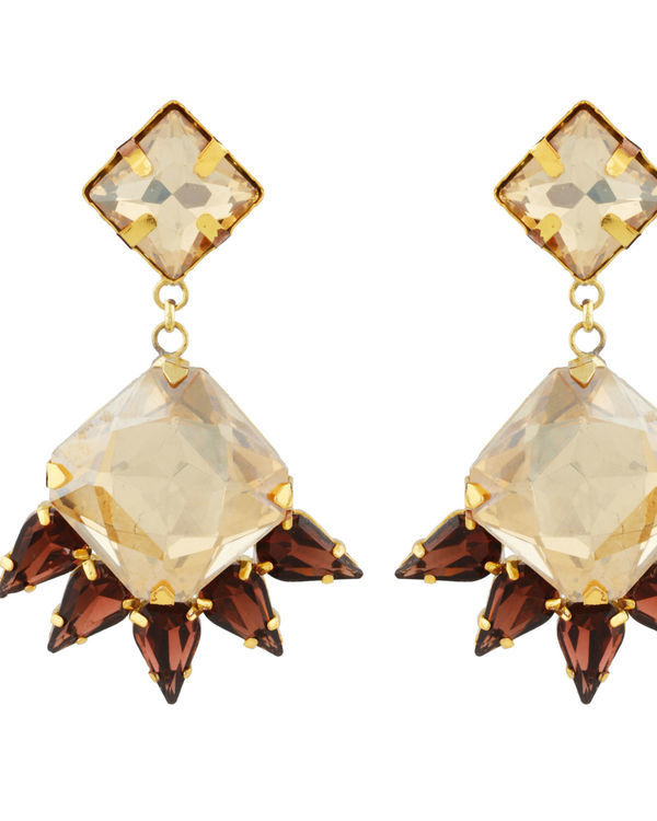 Art Deco Golden Drop Earrings 1