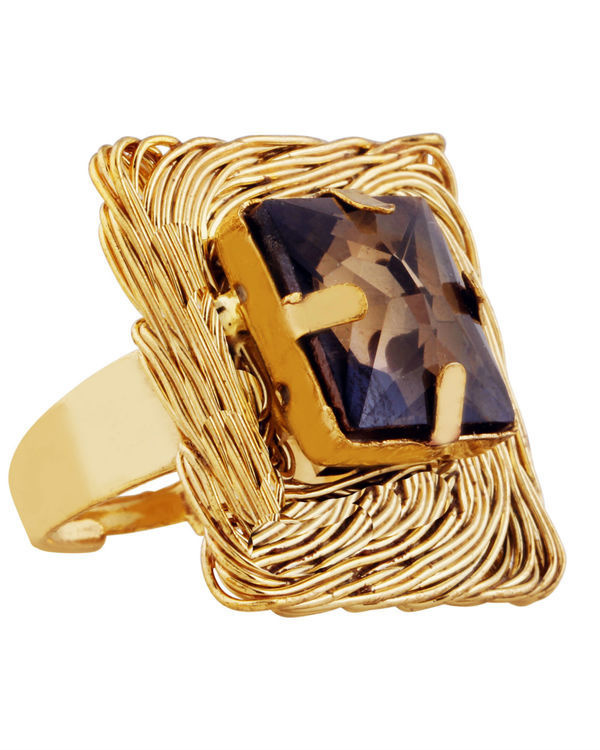 Agate Square Mesh Ring 1