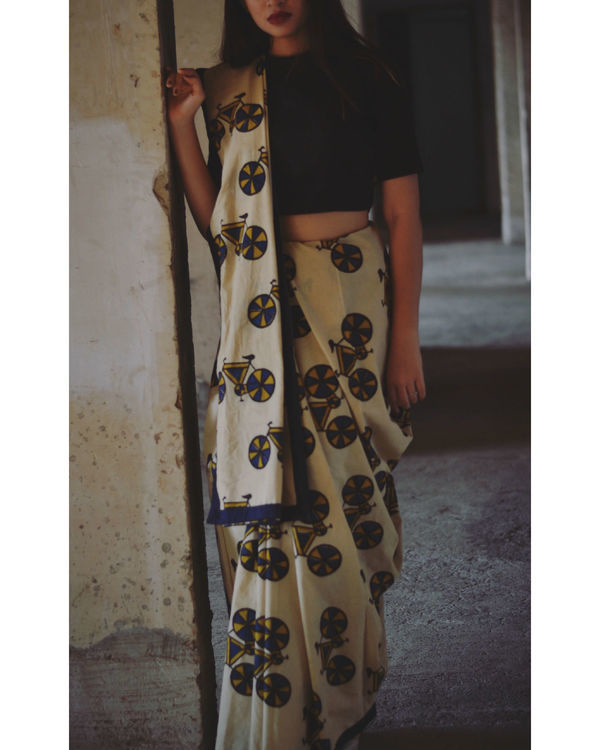 Cycle printed saree 1