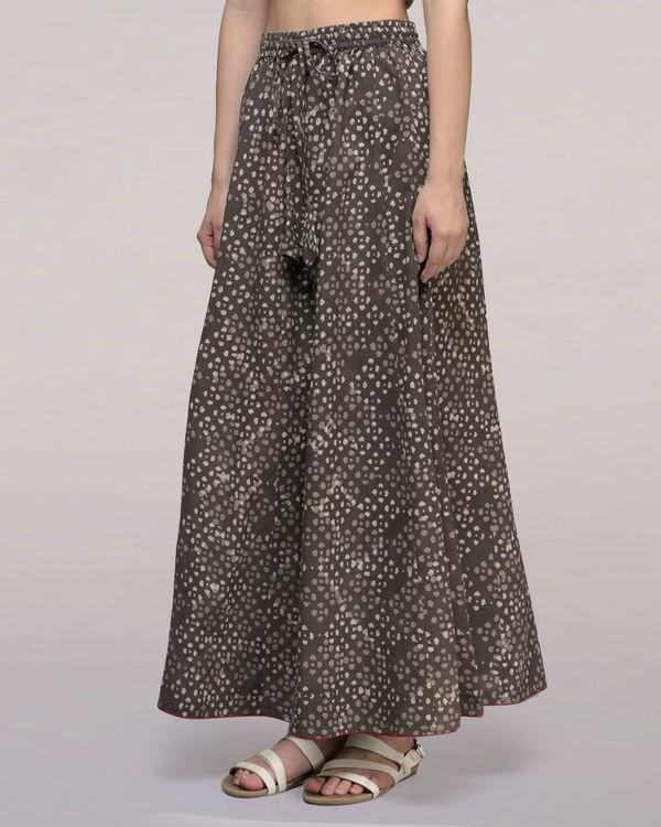 Ash black elasticated waist cotton palazzos 3