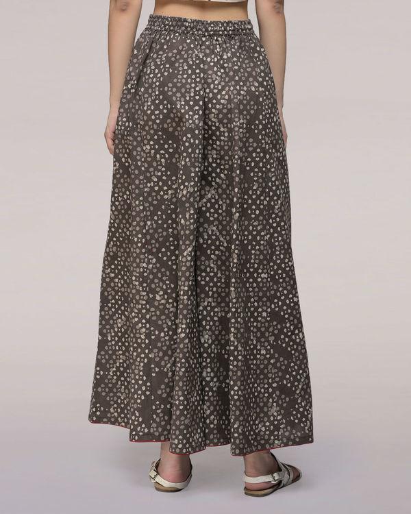 Ash black elasticated waist cotton palazzos 1