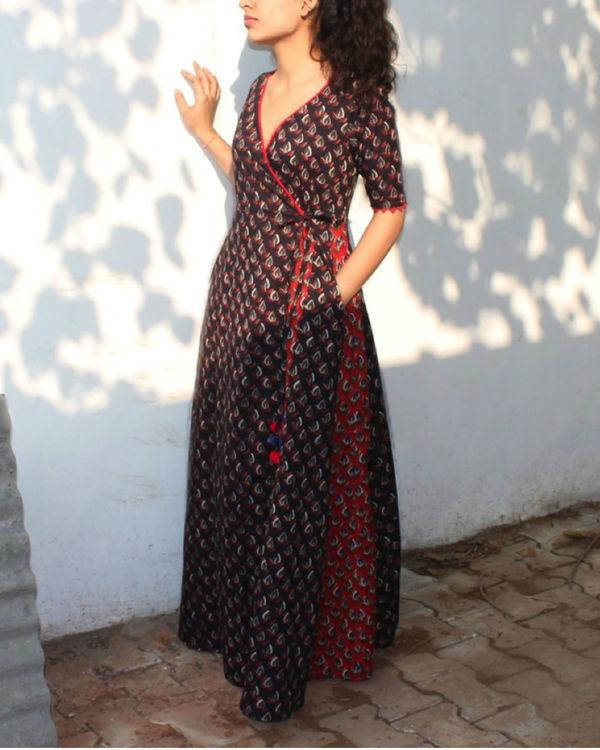 Mystical black wrap dress 3