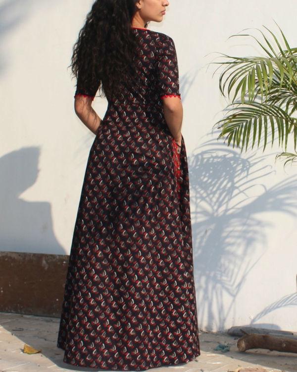 Mystical black wrap dress 1