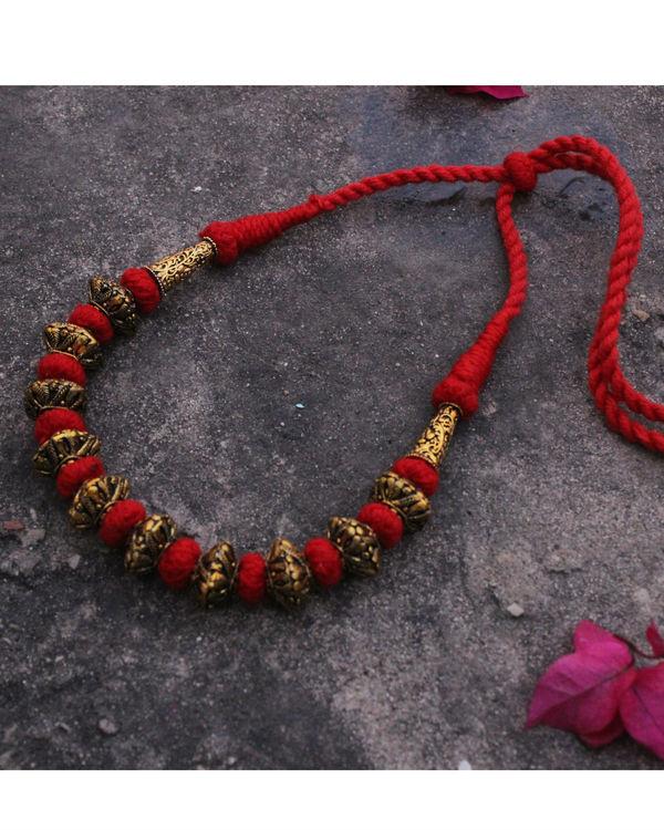 Gaurang Gheru red necklace 1