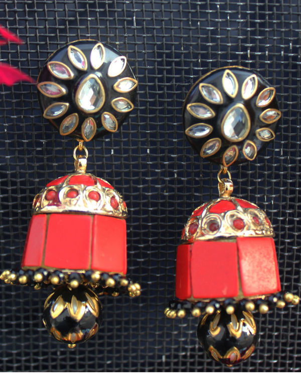 Sia black and red jhumka 1