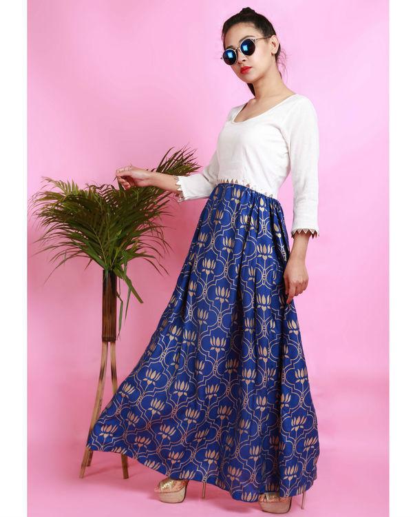 Blue thaamarai dress 3