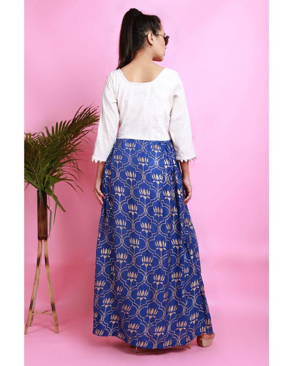 Blue thaamarai dress 2