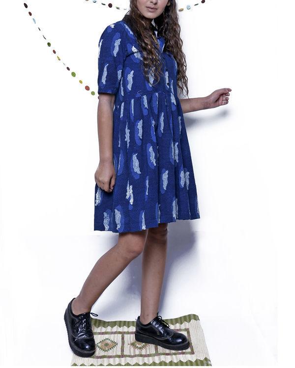 Indigo croc dress 3
