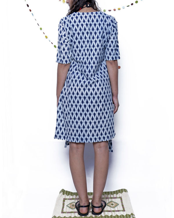 Indigo leaf four way dress 1