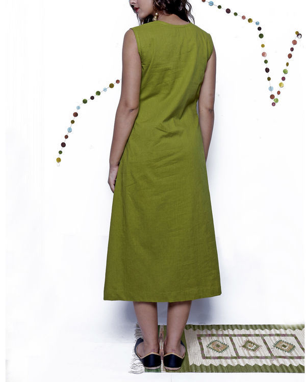Green textured dress 1