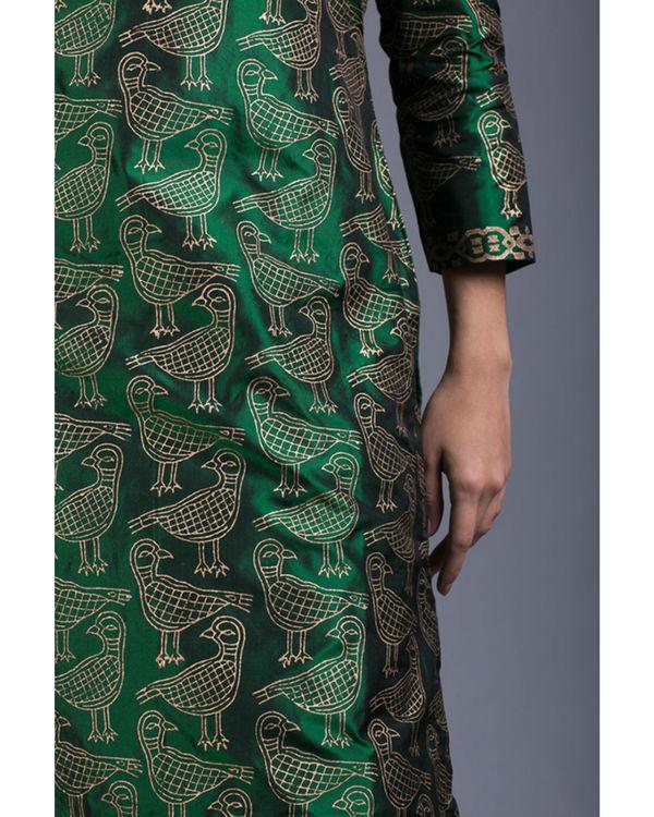 Peridot kabutar printed kurta set 2