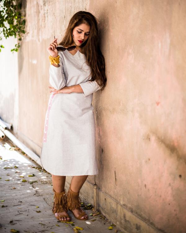 Side-button down- midi dress 3