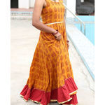 Thumb haldi chandan bagh print cotton flared dress  3