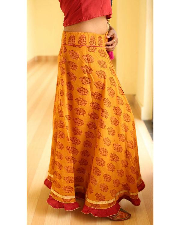 Haldi chandan  flared bagh print skirt 2