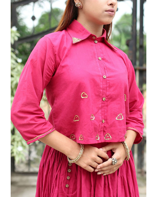 Gulabo crop shirt with sequin detailing 3
