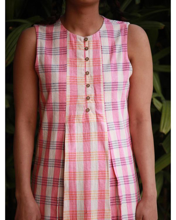 Candy pink khadi tunic 1