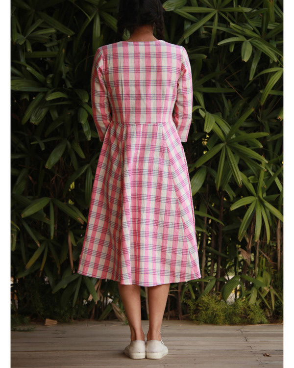 Quirky pink checks dress 2