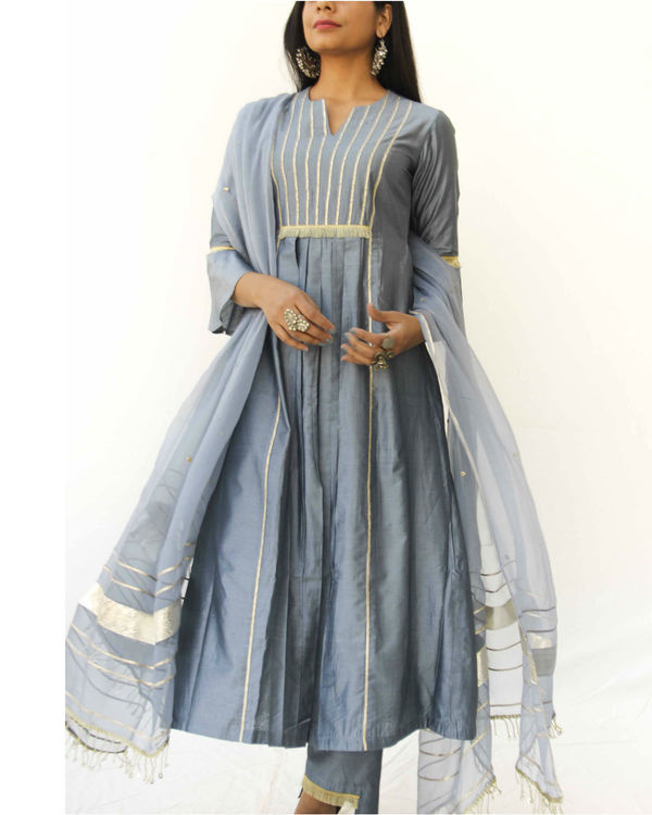 Grey chanderi trio set 2