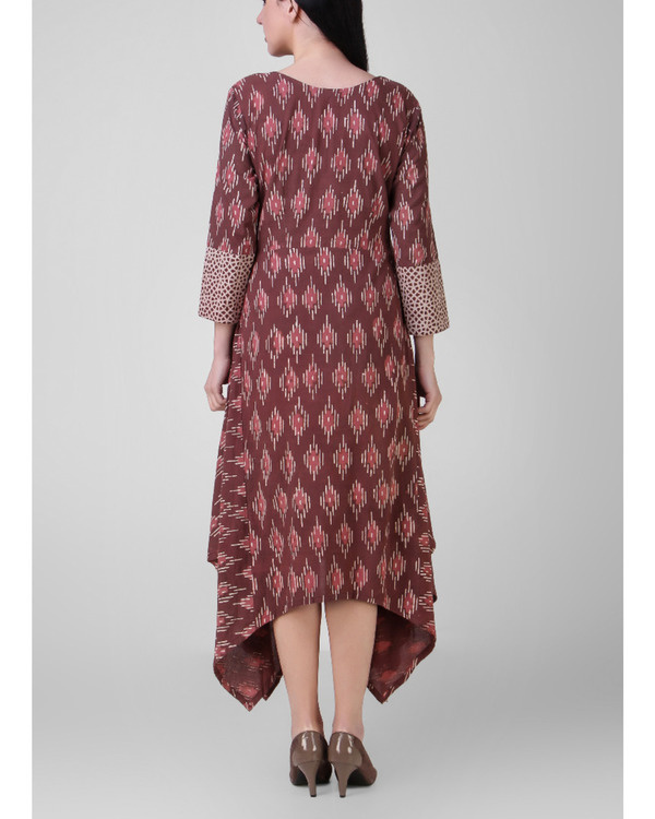 Rust dabu assymetrical dress 2