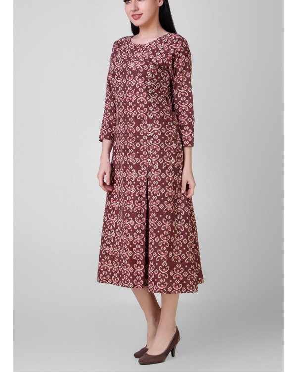 Dabu side pleated dress 3