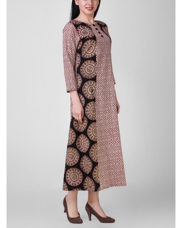 Black dabu patch dress 1