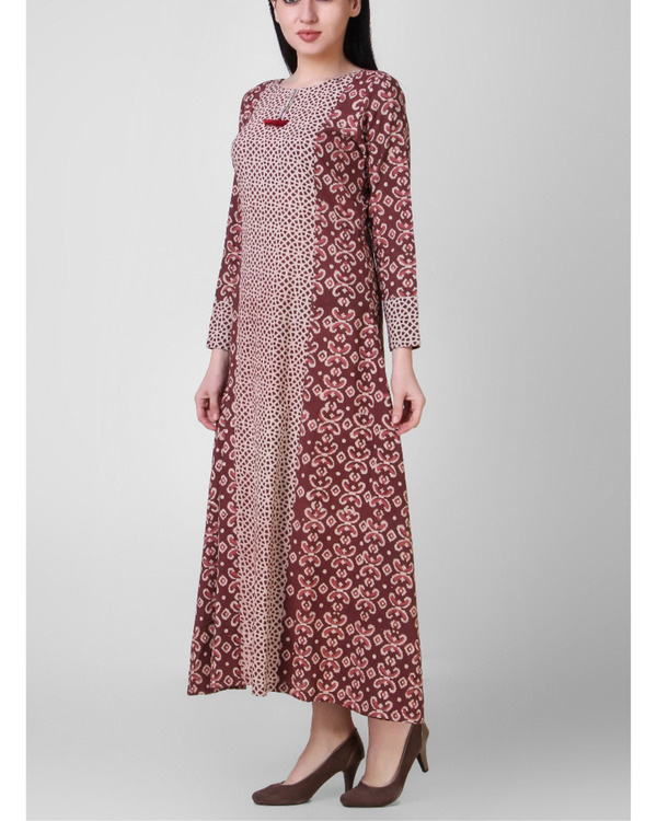 Tasseled rust dabu dress 1