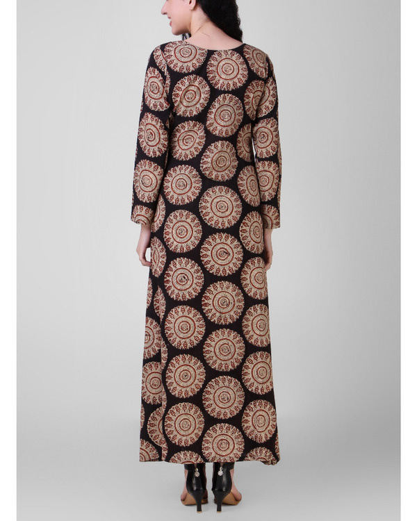 Overall block-printed cotton dress 2