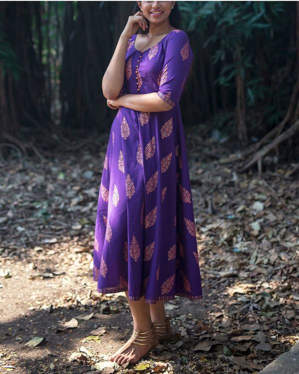 Purple gold boota dress 2