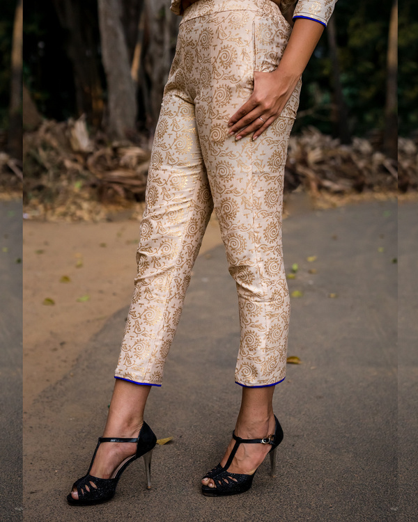 Gold print royal pants 1