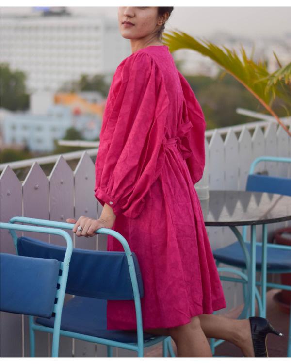 Pink trumpet short dress 2