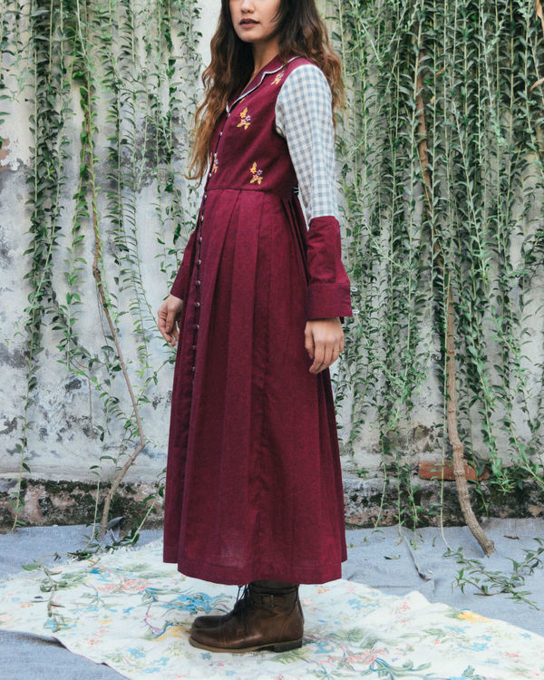 Merlot evening jacket dress 2