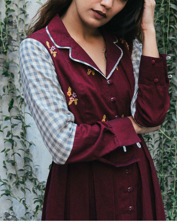 Merlot evening jacket dress 1