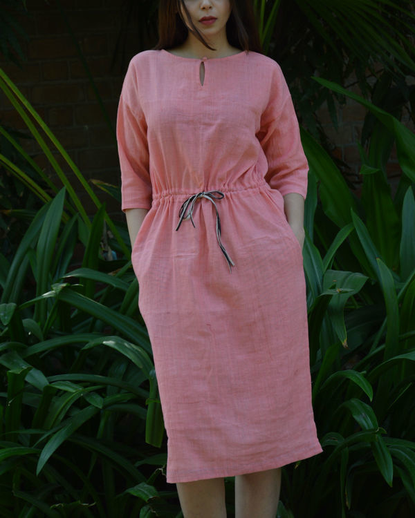 Pink anti-fit tunic with drawstring waist 2