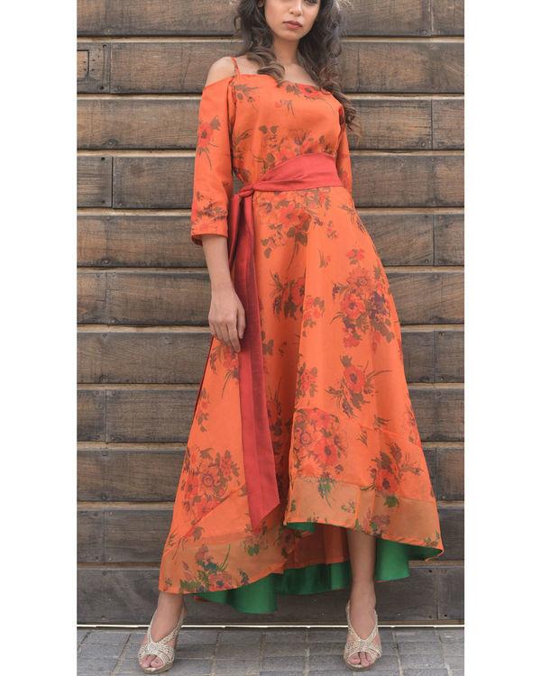 Rust assymetric dress 2